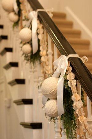 C mo decorar una escalera en navidad arquigrafico for Decoracion hogar navidad 2014